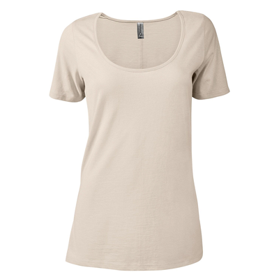Delta Platinum Ladies CVC Short Sleeve Scoop Neck Tee