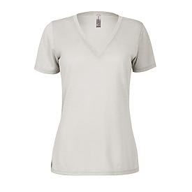 Ladies Slub Short Sleeve V-Neck Tee