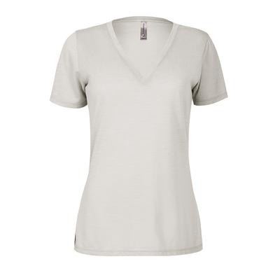 Delta Platinum Ladies Slub Short Sleeve V-Neck Tee