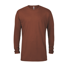 Adult Slub Long Sleeve Crew Neck Tee