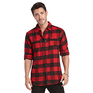 Burnside Men's Plaid Flannel Shirt
