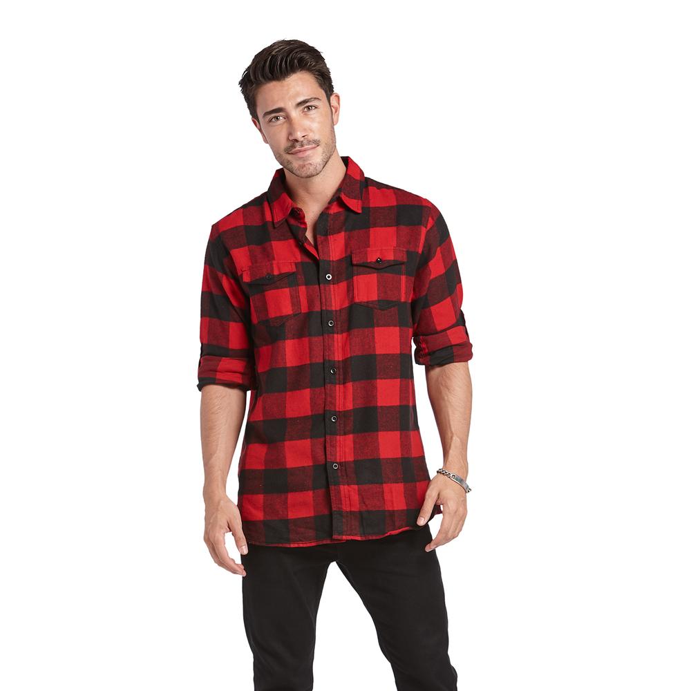 Burnside Men/'s Yarn-Dyed Long Sleeve Flannel Shirt 8210