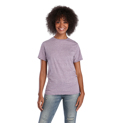 Delta Ringspun Adult Snow Heather Tee - New Updated Fit