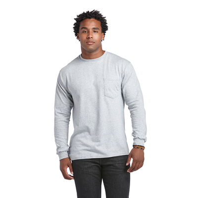 Delta Magnum Weight Adult 6.0 oz Long Sleeve Pocket Tee