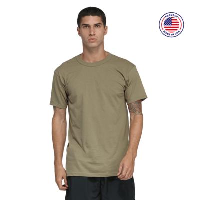 man facing front wearing a green short sleeve shirt