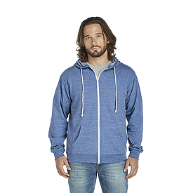 Delta Fleece Adult Unisex Snow Heather French Terry Zip Hoodie
