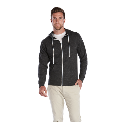 Adult Unisex Snow Heather French Terry Zip Hoodie
