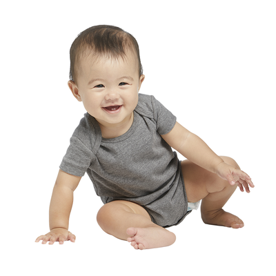 Delta Ringspun Infant 1x1 Rib Snap Tee