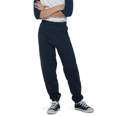 boy wearing fleece sweatpants with hands crossed over his chest