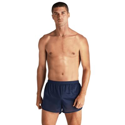 mean wearing navy blue ranger panties with no shirt