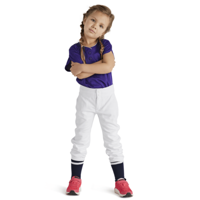 Girl wearing Soffe Intensity Hot Corner Pant in white