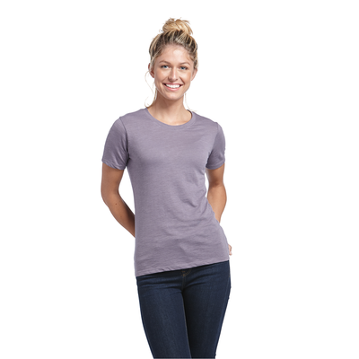 Delta Platinum Ladies Slub Short Sleeve Crew Neck Tee