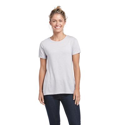 Delta Platinum Ladies Tri-Blend Short Sleeve Crew Neck Tee