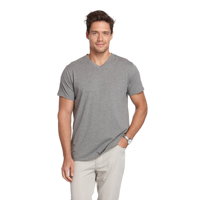 Delta Platinum Adult CVC Short Sleeve V-Neck Tee