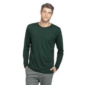 Adult CVC Long Sleeve Crew Neck Tee