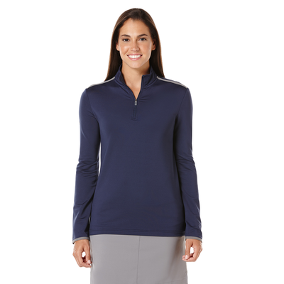 Ladies 1/4 Zip Mock Pullover
