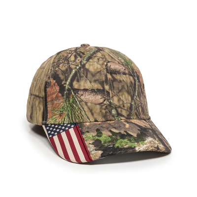 Structured W/Camo Flag Cap