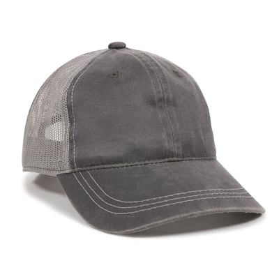 Outdoor Cap Weathered Cotton Solid Mesh Back Cap