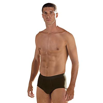 man wearing black briefs and no shirt