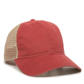 Outdoor Cap Washed Twill with Tea-Stained Mesh Back Cap